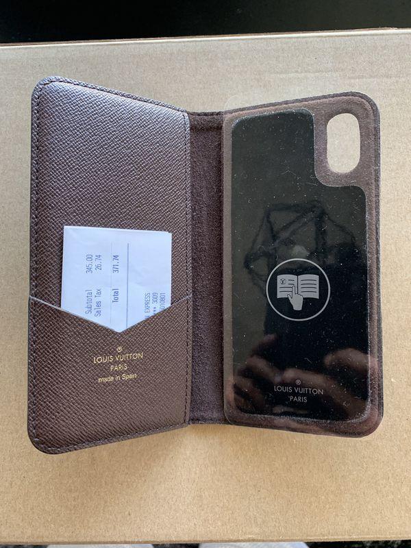 f946a2d02c04 Louis Vuitton iPhone X case folio authentic w  receipt for Sale in ...