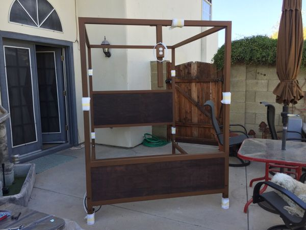 Custom Made Canopy Bed With Built In Frame Tv Mount Wiring For