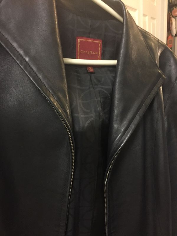 Cole Haan Leather Women S Jacket Size 10 Household In Glendale