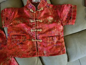 Chinese kid 2pc outfit size 2 for Sale in Tarpon Springs, FL