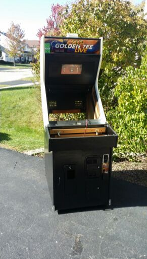 Golden Tee empty arcade cabinet for project or MAME for Sale in St   Charles, IL - OfferUp