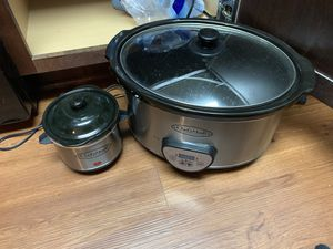 Crockpot with Small Sauce Pot for Sale in Baton Rouge, LA