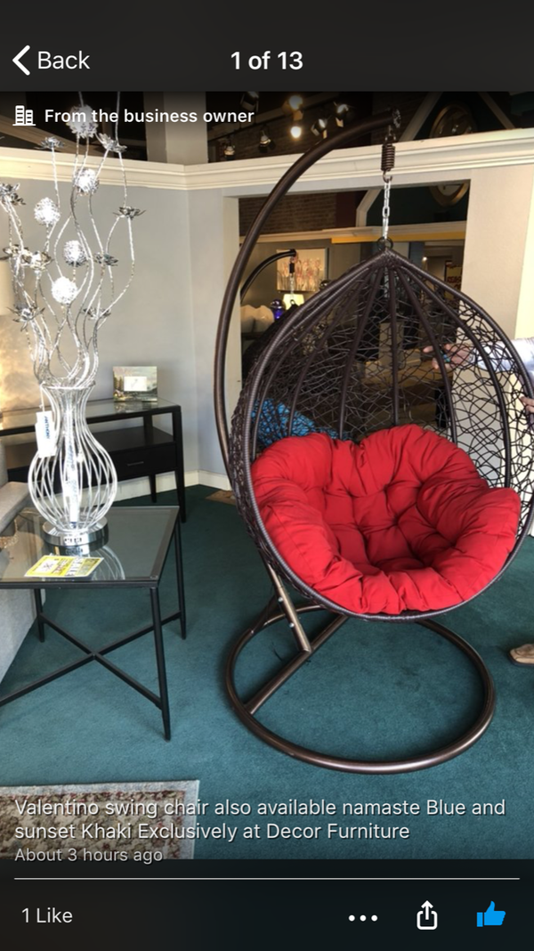 Brand New Swing Chair Available In Diffe Colors Furniture Santa Cruz Ca Offerup