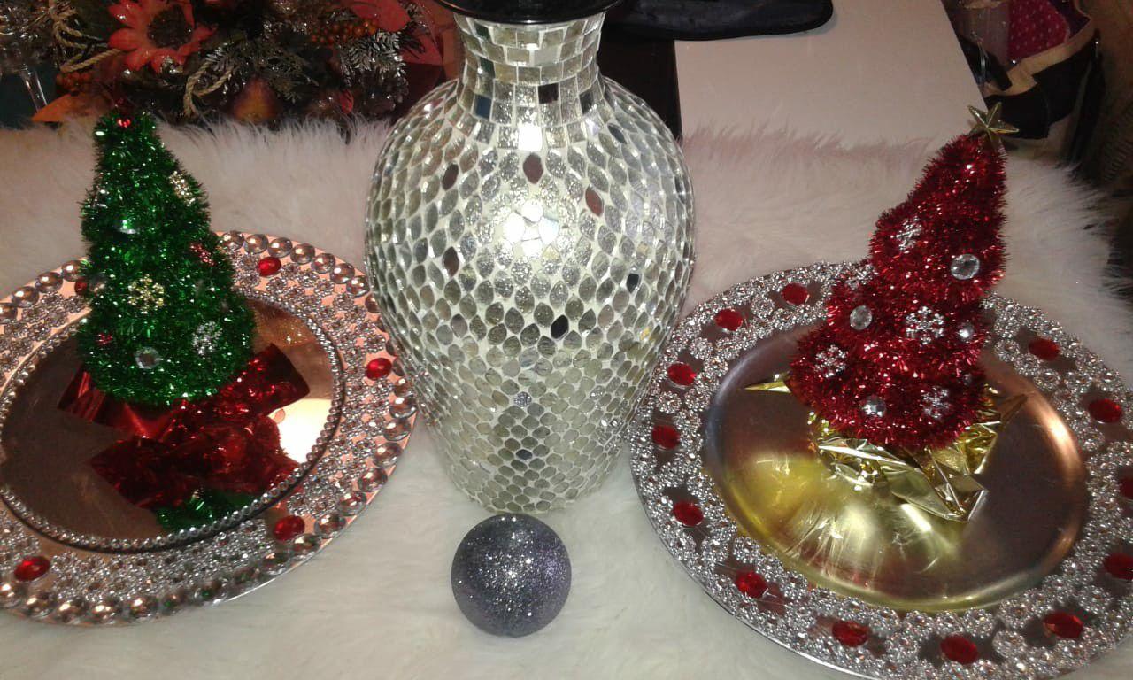 Platos para decorar en navidad