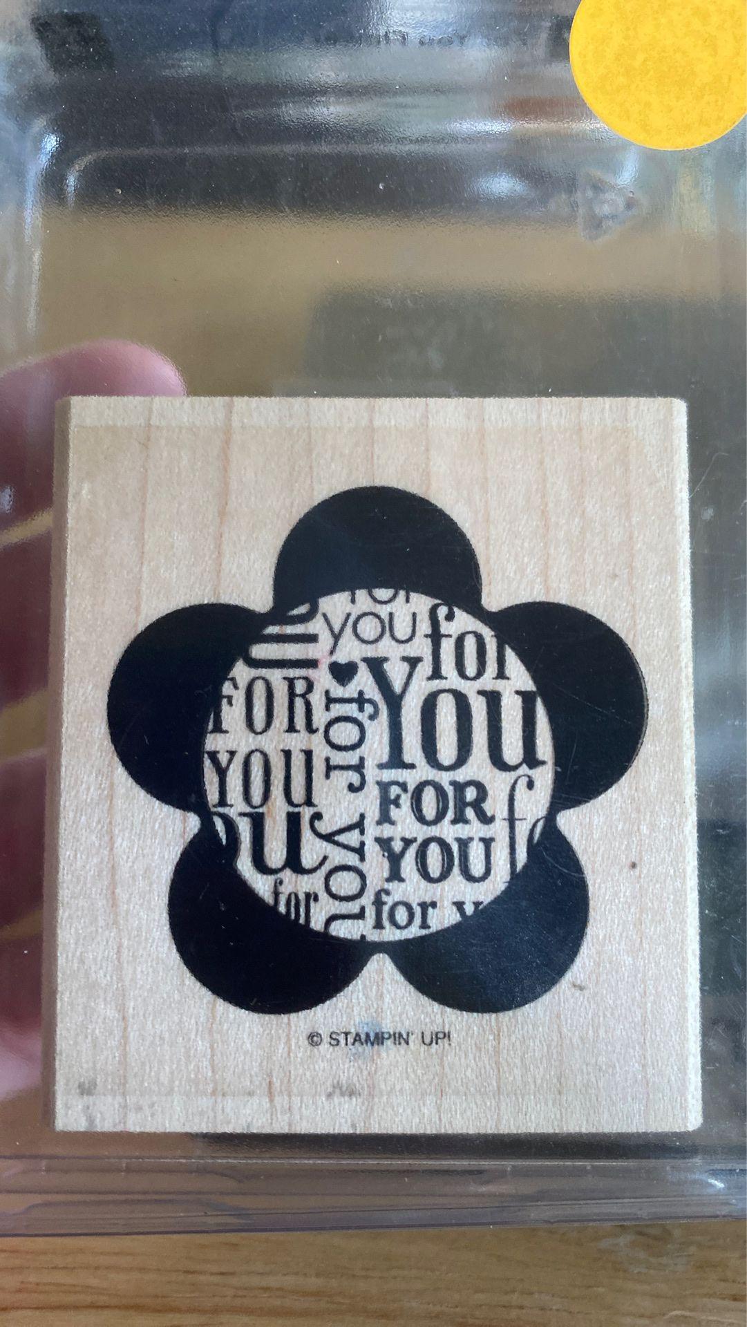 Stampin Up! Wooden Stamp Set