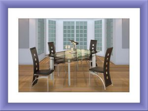 Glass table with 4 chairs free shipping for Sale in Temple Hills, MD