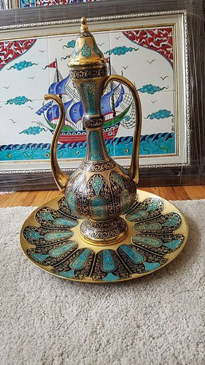 Beautiful hand made ottoman vase ibrik. for Sale in Chicago, IL