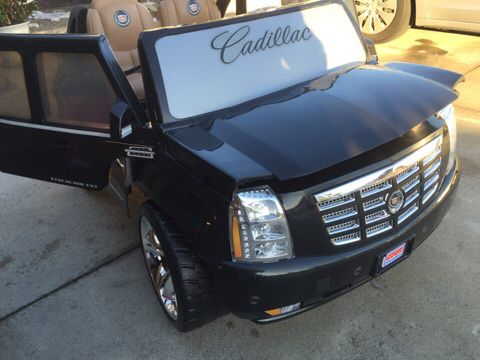 Brand New Black Cadillac Escalade 12volt Electric Kids Ride On Cars Wheels