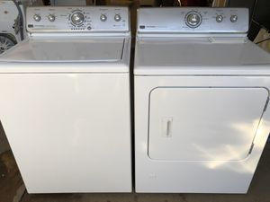 Photo Maytag commercial washer and gas dryer