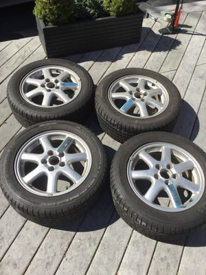 Photo Saab 9-3 9-5 BBS wheels rims and Michelin tires 215-55-16