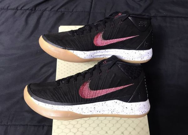 new arrival c6539 a9896 Nike Air Kobe AD Mid Black gum mens size 8, 9.5, 11.5, 12, or 13 basketball  shoes NEW DS!