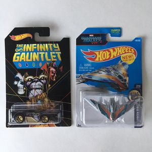 Hot Wheels Infinity Gauntlet Chase & Guardians of the Galaxy Set for Sale in Avondale, AZ