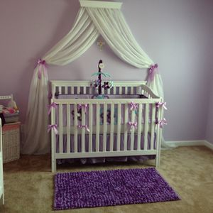 Crib bedding set-purple for Sale in Wake Forest, NC