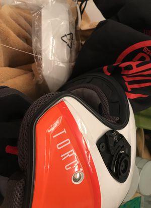 Orange/white TORC helmet Moped/Motor cycle for Sale in Alexandria, VA