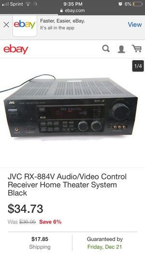 JVC RX-884V Audio Video Control Receiver in good condition, needs a new home. Make me a decent offer and she is yours. for Sale in Seattle, WA