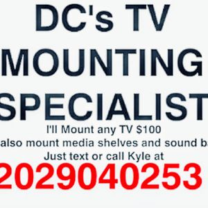 I'll Mount any TV Anywhere In The DMV $100 for Sale in Washington, DC