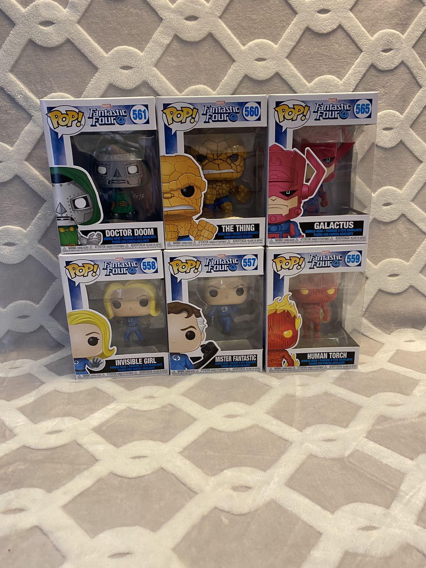 Funko Pop Fantastic Four Collection