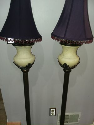 2 Royal Purple antique lamps: beauty for Sale in Franconia, VA