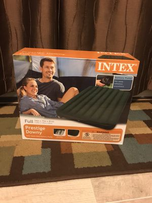 """Intex Full 8.75"""" Prestige Downy Airbed Mattress with Battery Pump BRAND NEW!!* for Sale in Manassas, VA"""
