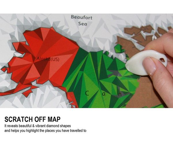 Unique diamond scratch map large world map poster wall art unique diamond scratch map large world map poster wall art posters with scratch off tool travel tracker map print or scratch off world map post arts gumiabroncs Images