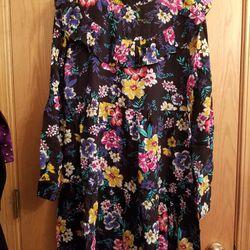 Junior Womens Dress Dresses Size Medium 8 10 & Gray Zip Up Sweater Size Small Never Worn Thumbnail