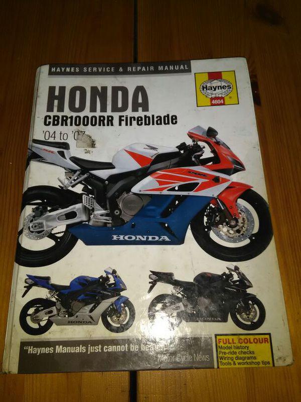 honda cbr 1000 rr fireblade 2004 haynes service repair manual 4604  motorcycle parts