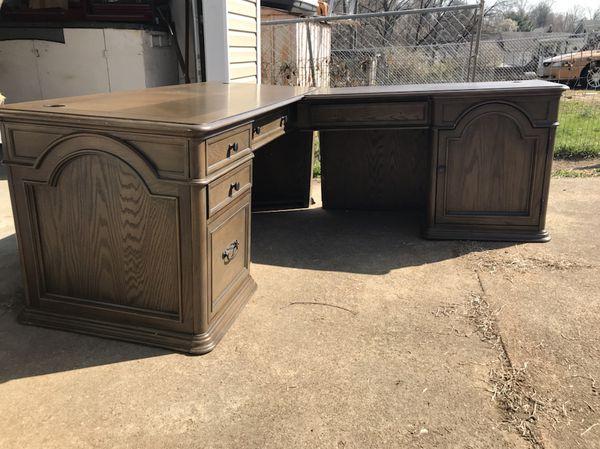 Nesbitt Executive L Desk W Return Open Box For Sale In St Louis MO