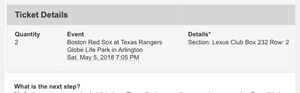 Rangers vs Red Sox for Sale in Austin, TX