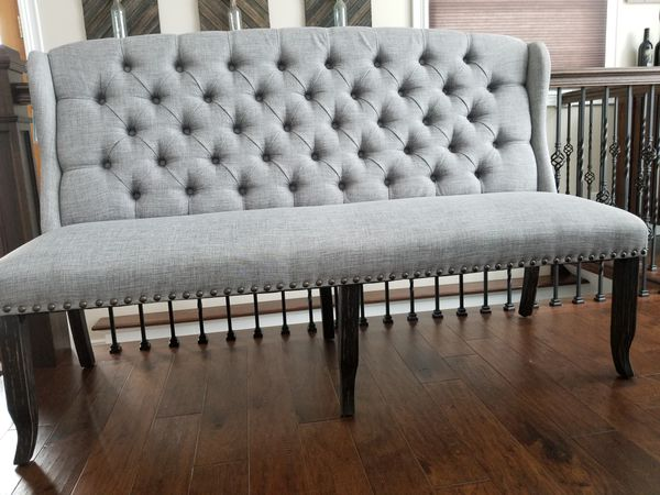 Furniture Of America 3 Seater Wing Back Tufted Dining