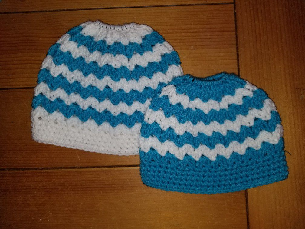 Mommy and me crochet beanie
