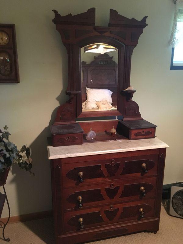 Antique Eastlake Bedroom Set Bed Dresser For Sale In Zion