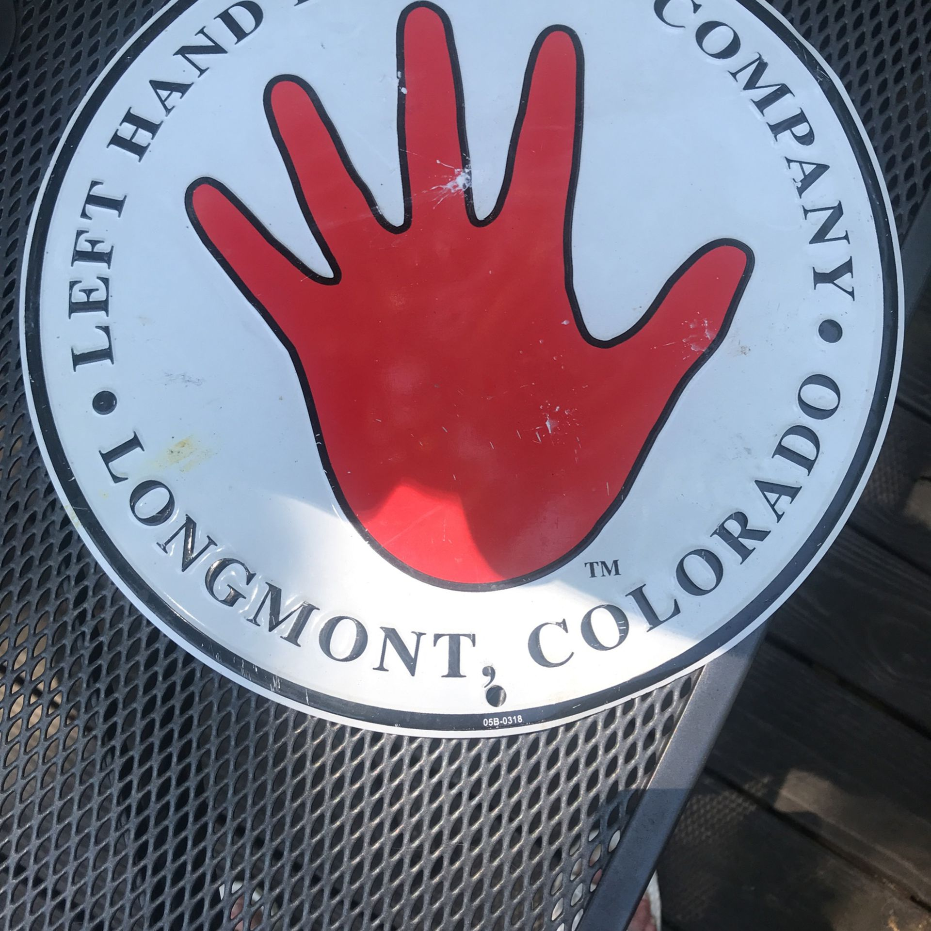 """12"""" Metal Left Hand Brewing Co  Sign"""
