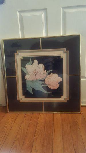Gorgeous vintage gold framed floral art for Sale in Orlando, FL