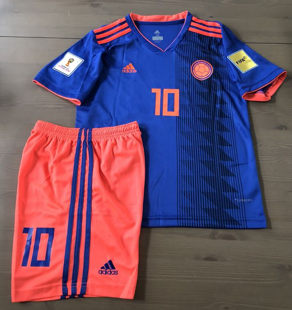 online store 24d11 dbd03 Kids kit Colombia National Team James #10 Blue Soccer Adidas jersey men  World Cup for Sale in Miami, FL - OfferUp