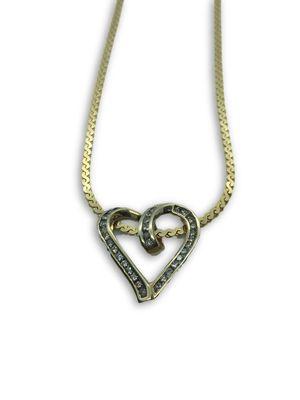 14k/10k diamond necklace for Sale in Alexandria, VA