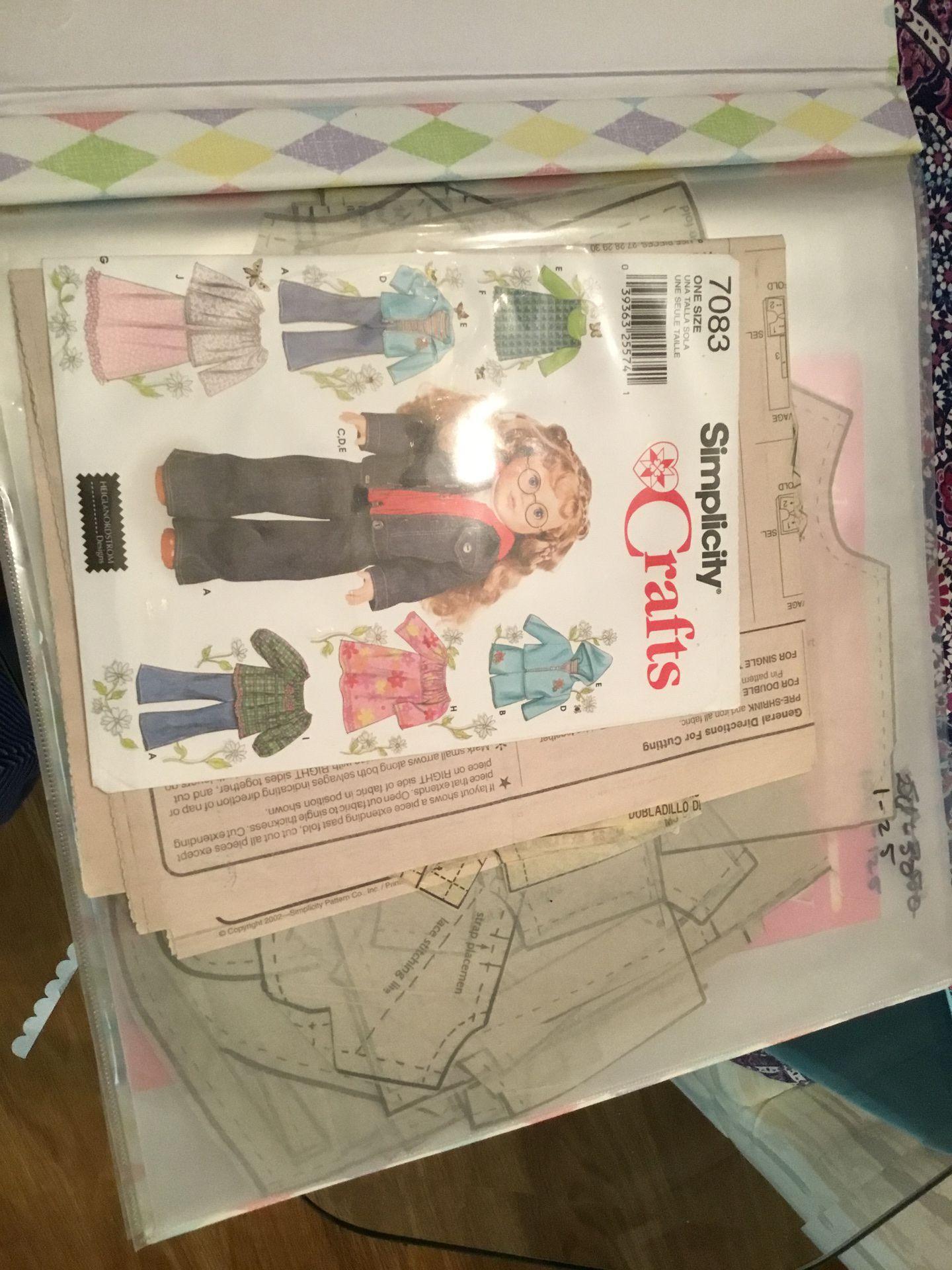 12 x 12 scrapbook of doll patterns