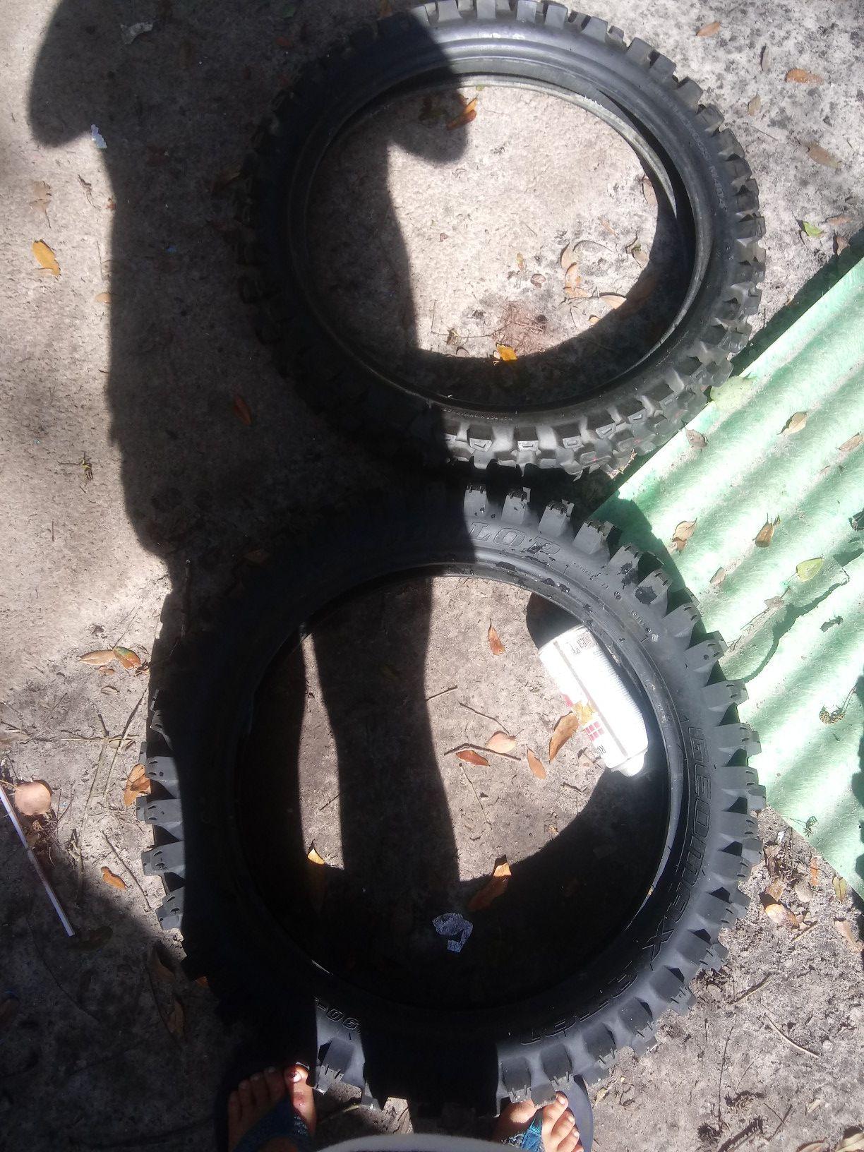 New dirt bike tires