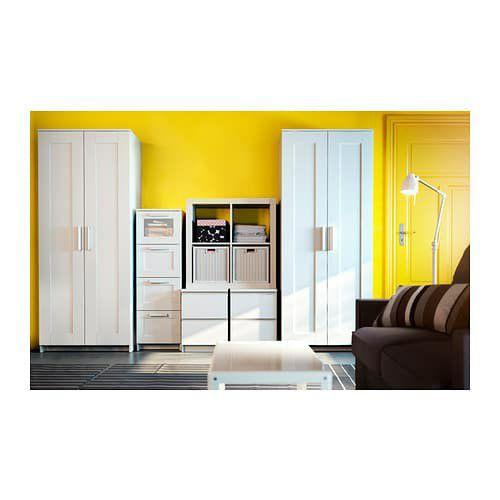 BRIMNES Wardrobe with 2 doors, white, 30 3/4x74 3/4 ' for Sale in  Mundelein, IL - OfferUp