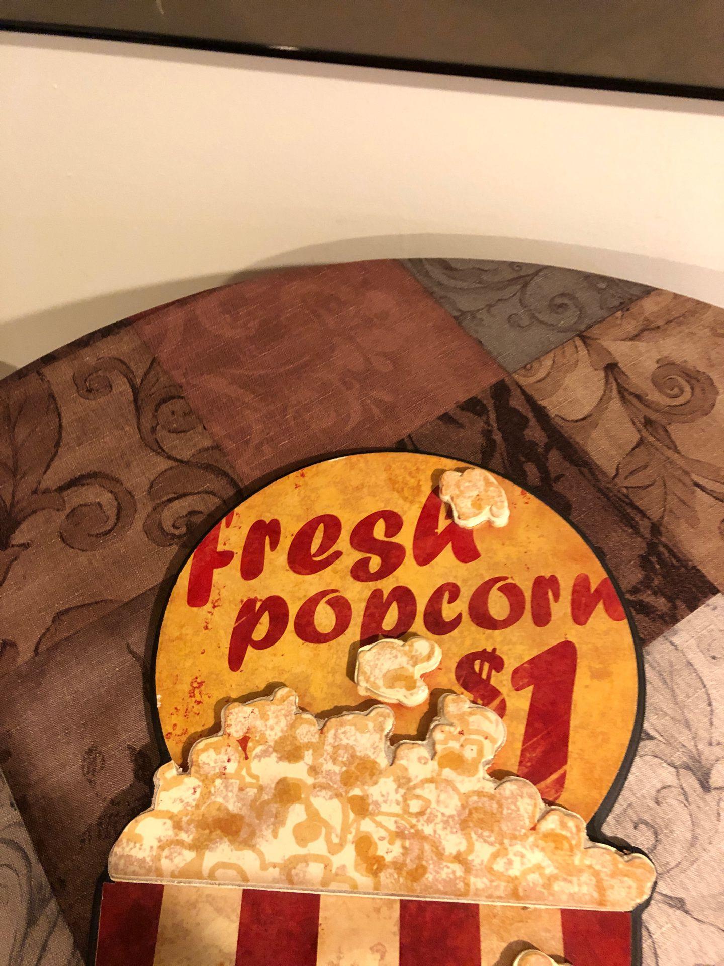 Pop corn sign