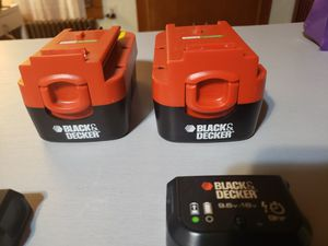 Photo 2 black and decker batteries and chargers