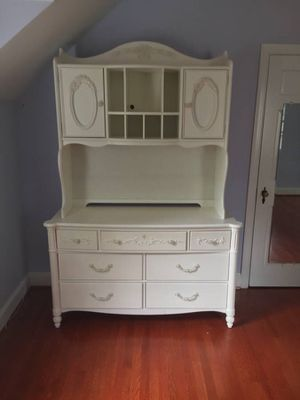 Wood Bedroom Set With Hutch Bed Nightstand - Will Deliver for Sale in Washington, DC