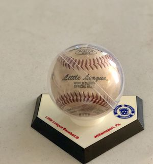 Little World Series Game Winning Ball Mid Atlantic for Sale in Bethesda, MD