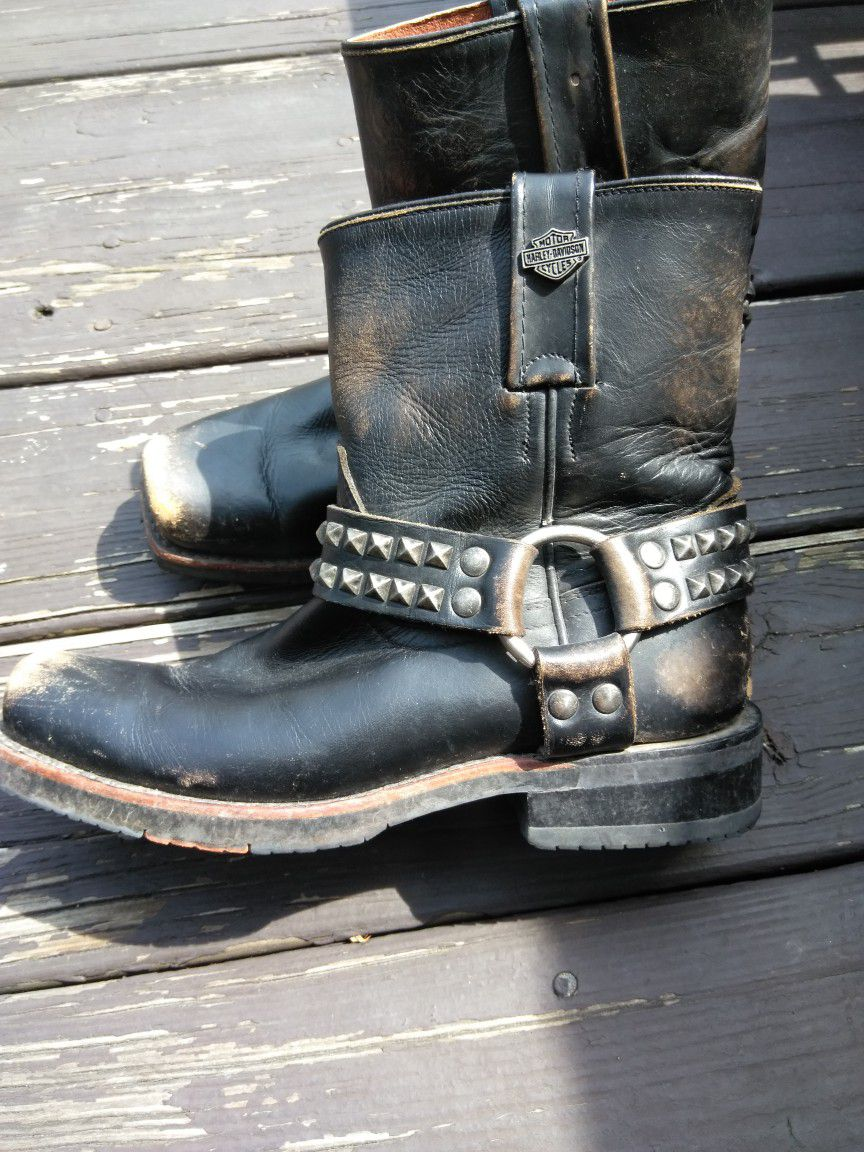 Harley Ankle Boots Studded Size 6.5