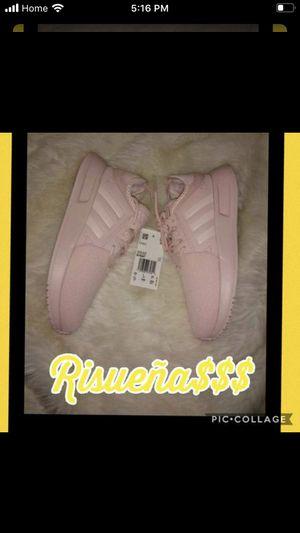 Photo Iced pink girls adidas kids size 1 1/2 brand new