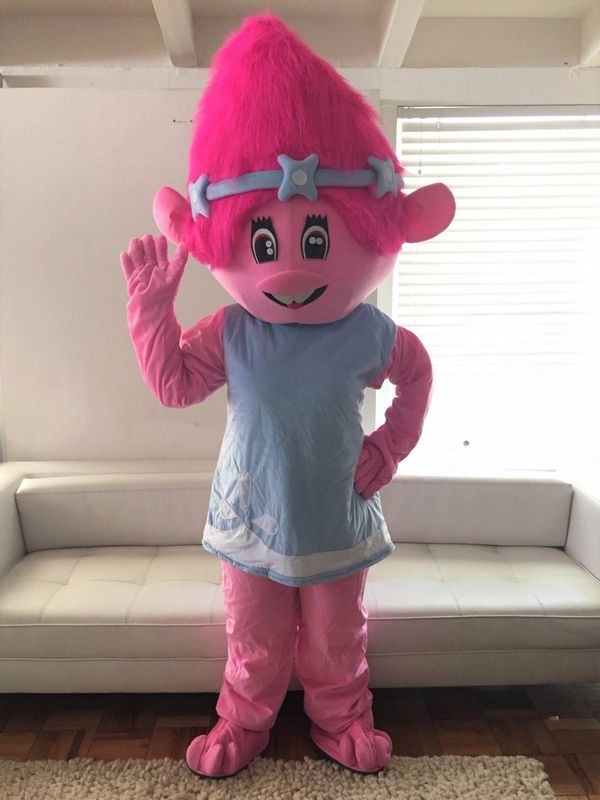 POPPY TROLLS ADULT MASCOT COSTUME FOR BIRTHDAY PARTIES Los Angeles