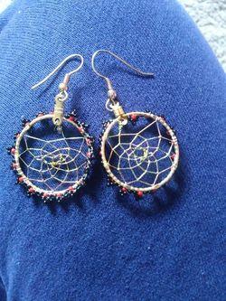 A pair of dream catcher earrings Thumbnail