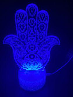 Beautiful Hamsa Hand Evil Eye 🧿 Custom 3d Lamps Thumbnail