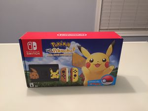Nintendo Switch Console Bundle - Pikachu and Eevee Edition with Pokemon: Let's Go, Pikachu! + Poke Ball Plus for Sale in Bethesda, MD