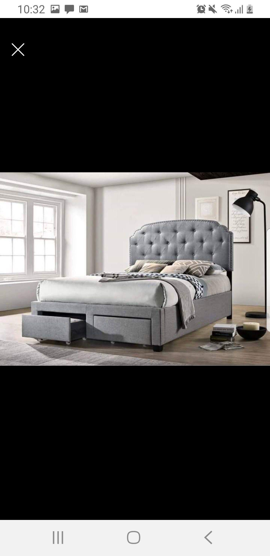 New Grey Queen Size Bed