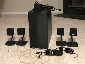 BOSE LIFESTYLE, 5 single speakers 3 WIRES AND SUBWOOFER for Sale in Germantown, MD